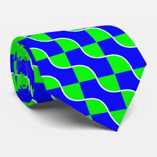 Blue-green waves tie
