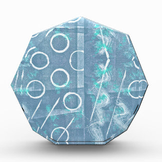 Blue Green White Abstract Acrylic Award