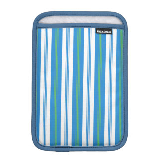 Blue Green White Deckchair Stripe iPad Mini Sleeve