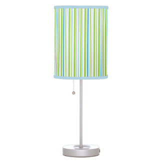 blue green white striped lamps. Black Bedroom Furniture Sets. Home Design Ideas