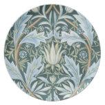 Blue Green William Morris Fine Floral Wallpaper Plate