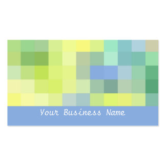 Blue, Green, Yellow Abstract Business Card