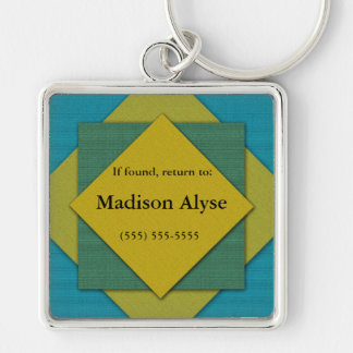 Blue, Green, Yellow Lost and Found Keychain