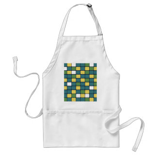 Blue Green Yellow Mosaic Tile Pattern Gifts Adult Apron
