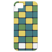 Blue Green Yellow Mosaic Tile Pattern Gifts iPhone 5 Case