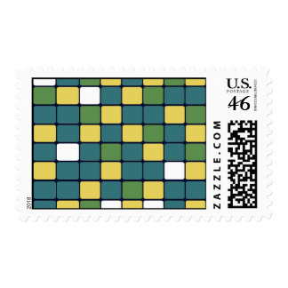 Blue Green Yellow Mosaic Tile Pattern Gifts Stamps