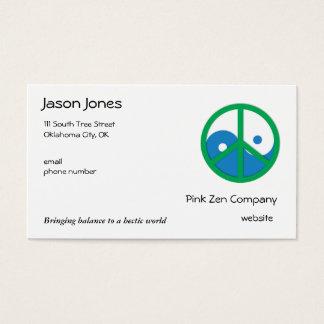 Blue & Green Yin Yang Business Card