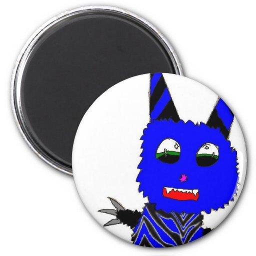 Blue Gremlin 2 Inch Round Magnet