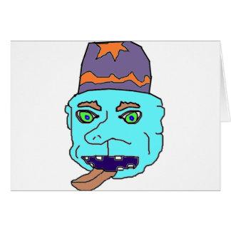Blue Gremlin Head Cards