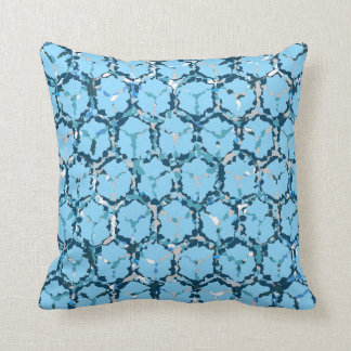 Blue/Grey Abstract Reversible Throw Pillow