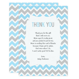Thank You Poem Baby Shower Invitations Zazzle