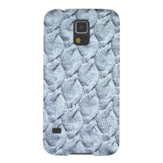 Blue-grey big knitted cables galaxy s5 cover
