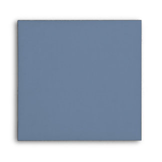 Blue & Grey Bokeh Lights, Ribbon & Bow Wedding Envelope