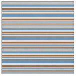 [ Thumbnail: Blue, Grey, Brown & Beige Colored Lines Fabric ]