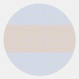 Blue Grey Brown Pastel pattern Classic Round Sticker