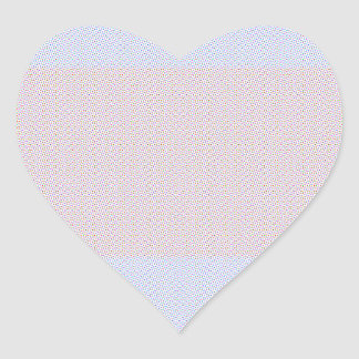 Blue Grey Brown Pastel pattern Heart Sticker
