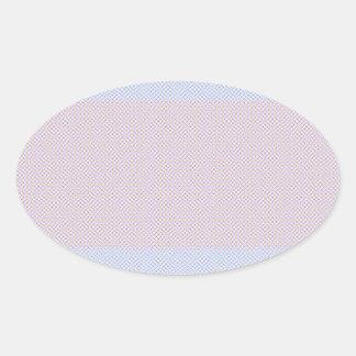 Blue Grey Brown Pastel pattern Oval Sticker