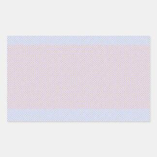 Blue Grey Brown Pastel pattern Rectangular Sticker