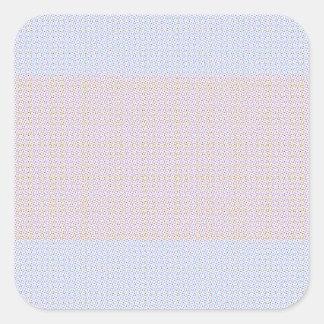 Blue Grey Brown Pastel pattern Square Sticker
