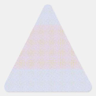 Blue Grey Brown Pastel pattern Triangle Sticker
