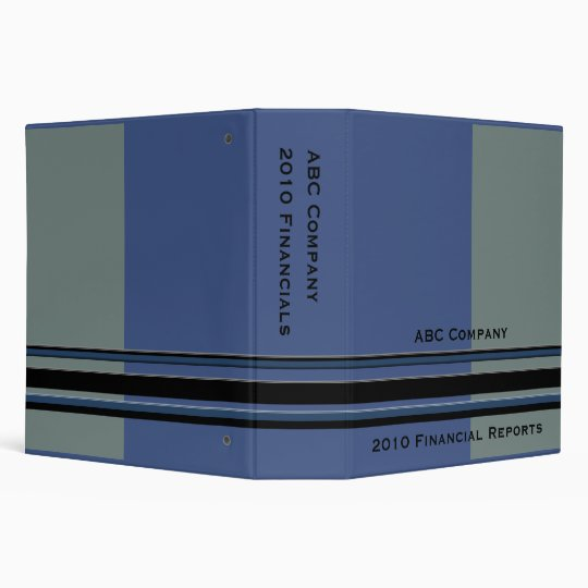 blue grey business binder