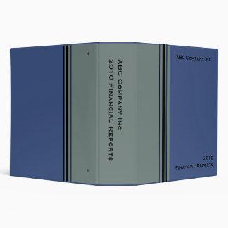blue grey business vinyl binder