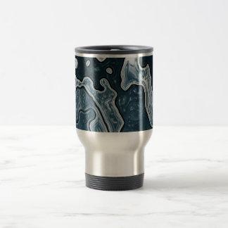 Blue Grey Camo Travel Mug
