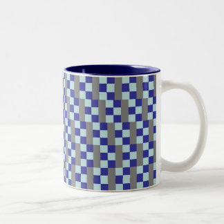 Blue & Grey Chequered Mug