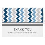 Blue Grey Chevron Employee Appreciation Card