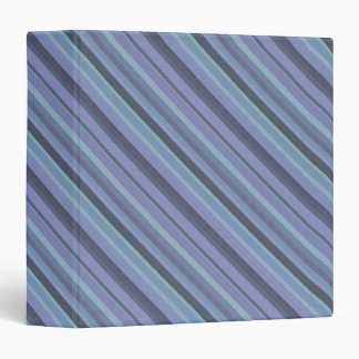 Blue-grey diagonal stripes 3 ring binder