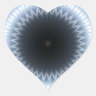 Blue Grey Diamond Design Dir by CGB Digital Art.pn Heart Sticker