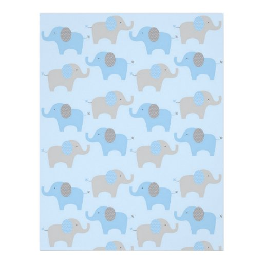baby letterhead paper blue grey elephant baby scrapbook paper personalized baby letterhead paper
