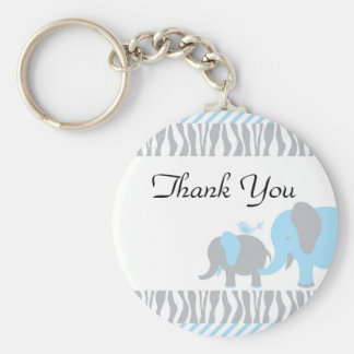 Blue & Grey Elephant Keychain