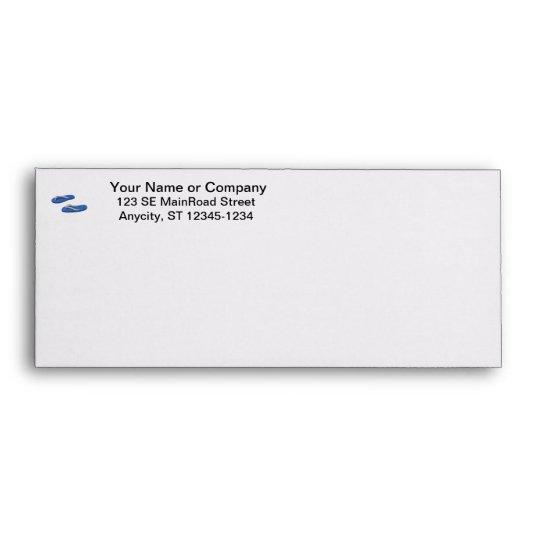 blue grey flip flops offset envelope