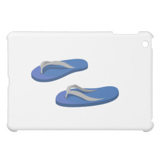 blue grey flip flops offset iPad mini cases
