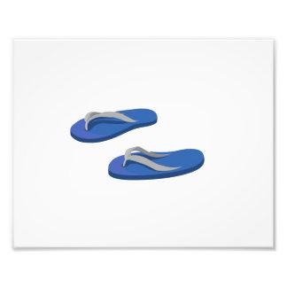 blue grey flip flops offset photographic print