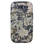 Blue & Grey Floral Samsung Galaxy SIII Cases