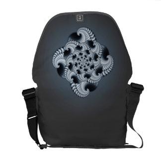 Blue Grey Fractal Design Commuter Bag