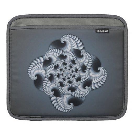 Blue Grey Fractal Design iPad Sleeve