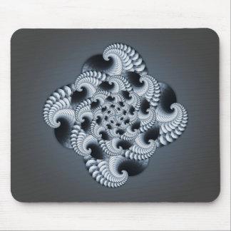 Blue Grey Fractal Design Mouse Pad