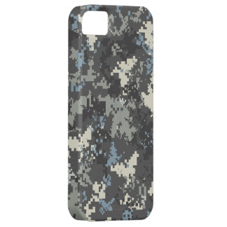 Blue Grey iPhone 5 digital camo case iPhone 5 Covers