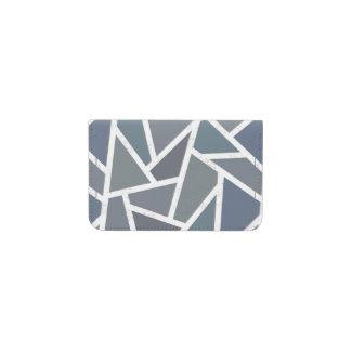 Blue-grey mosaic pattern business card holder
