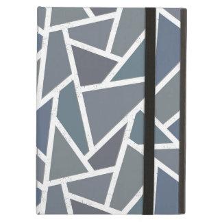 Blue-grey mosaic pattern case for iPad air
