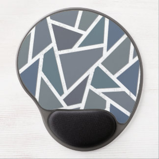 Blue-grey mosaic pattern gel mouse pad
