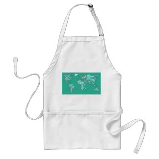 Blue grey planet drawing aprons
