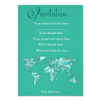 Blue grey planet drawing card
