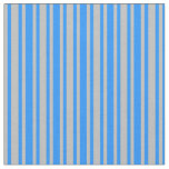 [ Thumbnail: Blue & Grey Striped/Lined Pattern Fabric ]