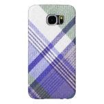 Blue Grey Tartan Plaid Case Samsung Galaxy S6 Cases