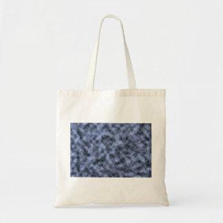 Blue grey white black mottled pattern design canvas bags
