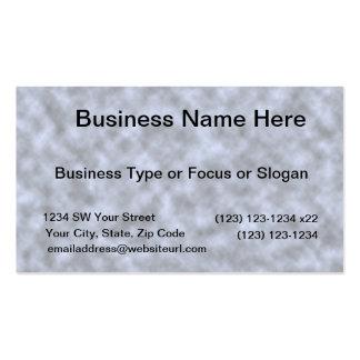 Blue grey white black mottled pattern design business card
